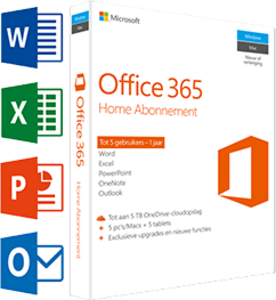 Office 365 Home 5-PC/MAC 1 jaar