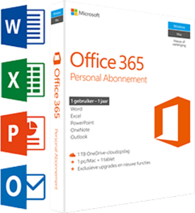 Office 365 Personal 1-PC/MAC 1 jaar